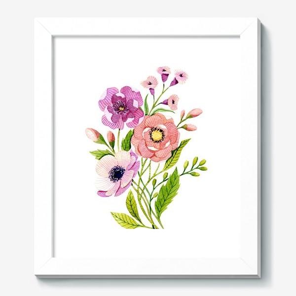 Картина «Коралловые цветы»