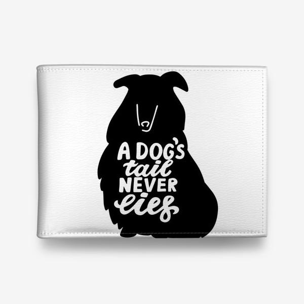 Кошелек «Колли с надписью A dog tail never lies. Собаководам»