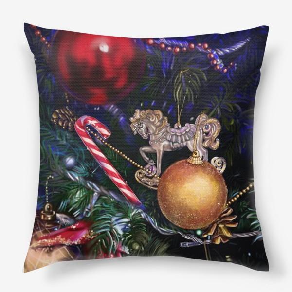 Подушка «Новогодние игрушки»