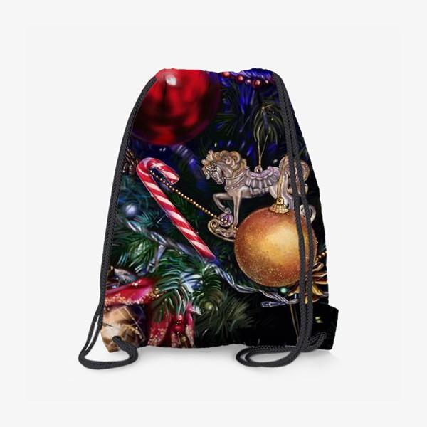 Рюкзак «Новогодние игрушки»