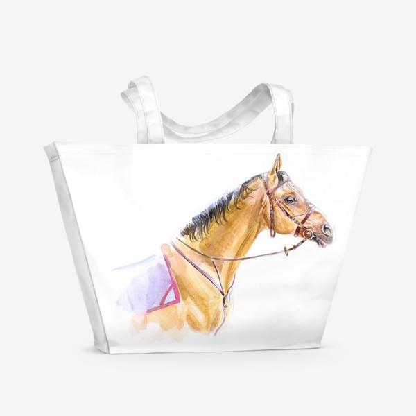 Пляжная сумка «Портрет донского жеребца»