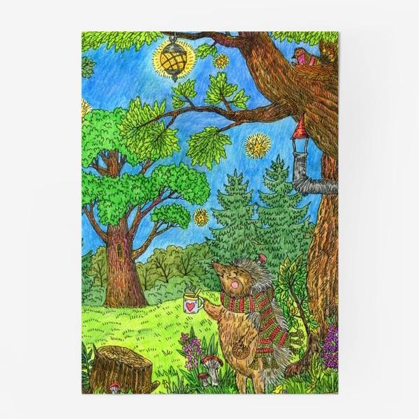 Постер «Уютная осень маленького ежика»