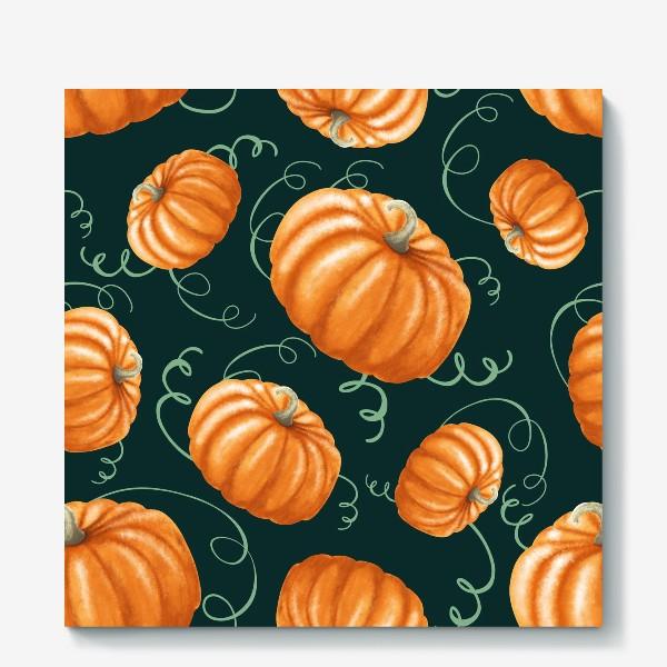 Холст «оранжевые тыквы»