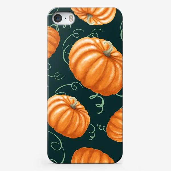 Чехол iPhone «оранжевые тыквы»