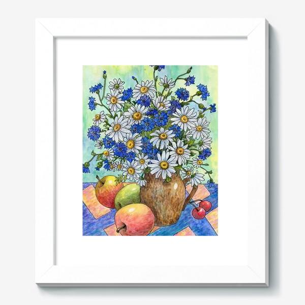 Картина «Букет ромашек и васильков»