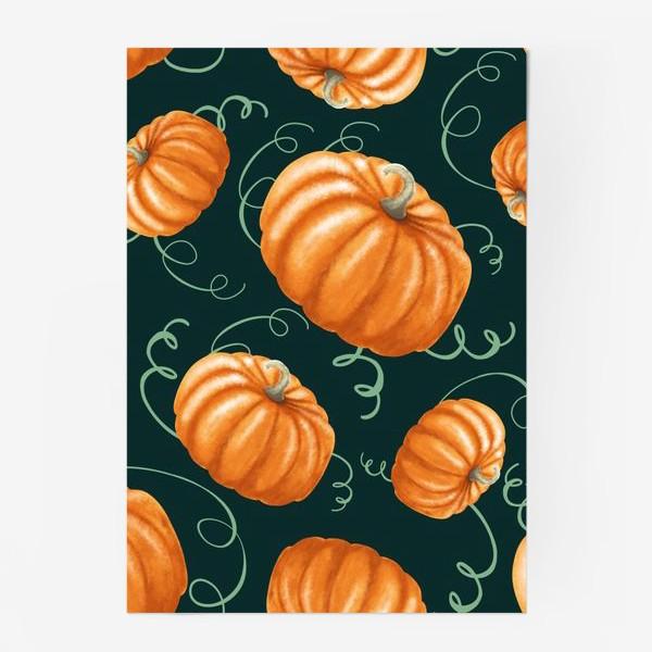 Постер «оранжевые тыквы»