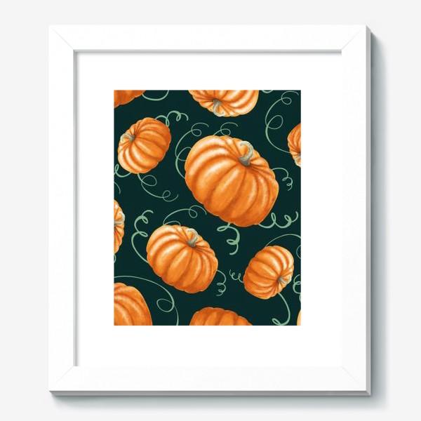Картина «оранжевые тыквы»