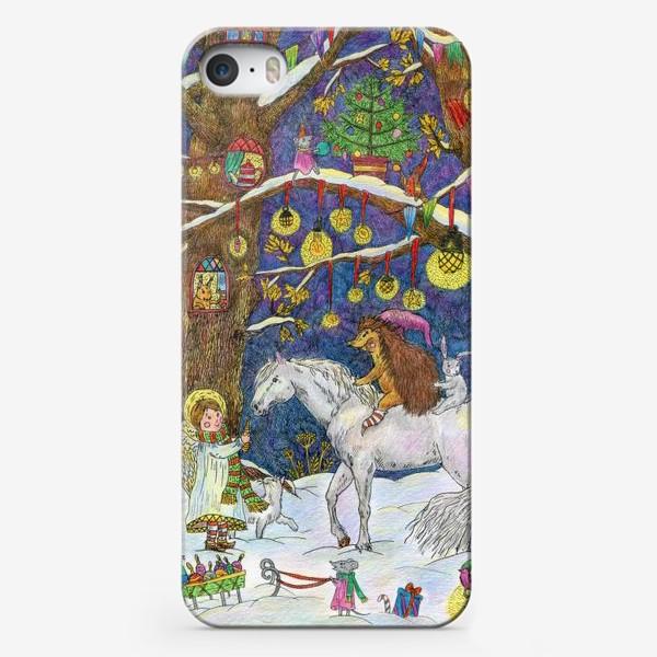 Чехол iPhone «Рождество в сказочном лесу»