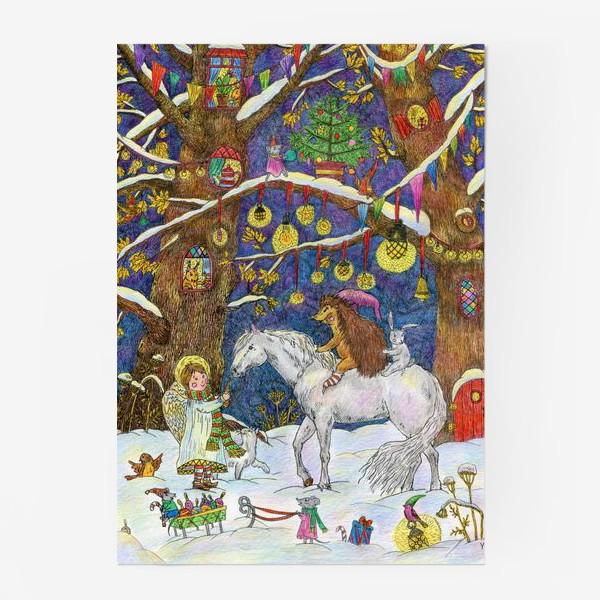 Постер «Рождество в сказочном лесу»