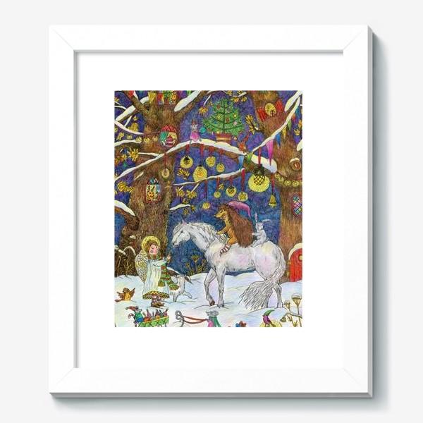 Картина «Рождество в сказочном лесу»