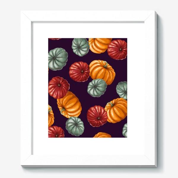 Картина «пестрые тыквы»