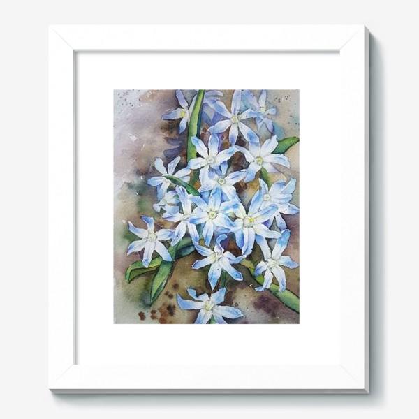 Картина «Акварель Голубые цветы»