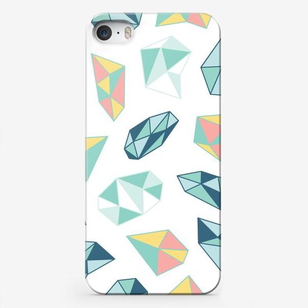 Чехол iPhone «Цветные кристаллы»
