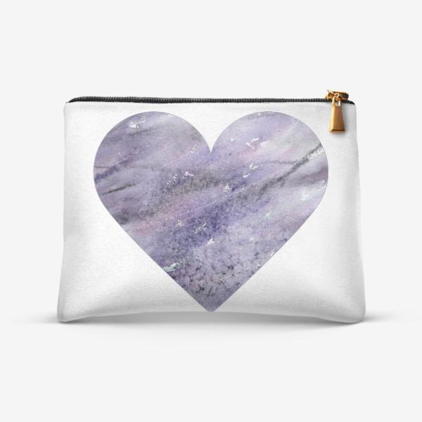 Косметичка «Сердце с лавандой. Для влюбленных в Прованс!»