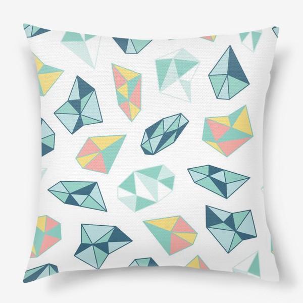 Подушка «Цветные кристаллы»