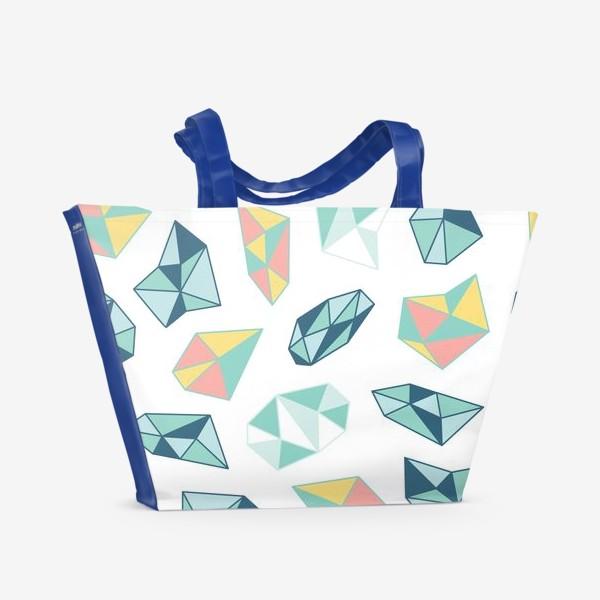 Пляжная сумка «Цветные кристаллы»