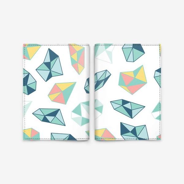 Обложка для паспорта «Цветные кристаллы»