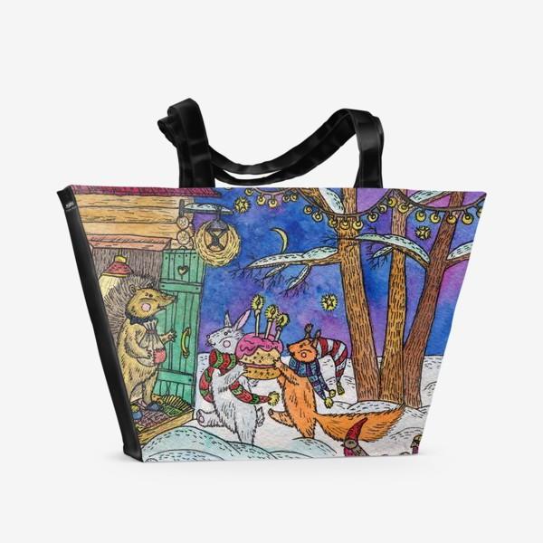 Пляжная сумка «С Днём рождения!»