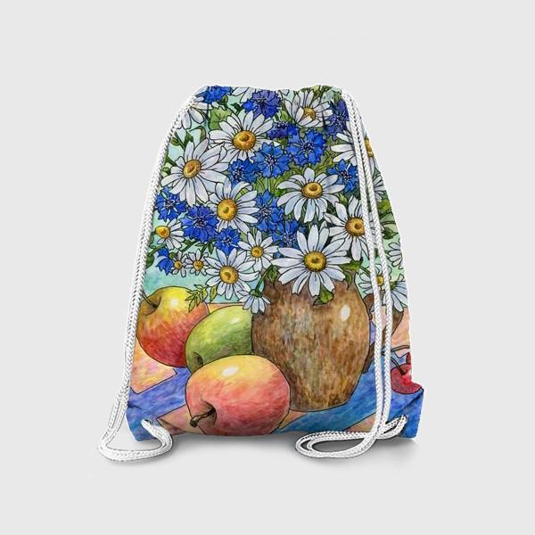 Рюкзак «Букет ромашек и васильков»