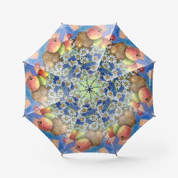 Зонт «Букет ромашек и васильков»
