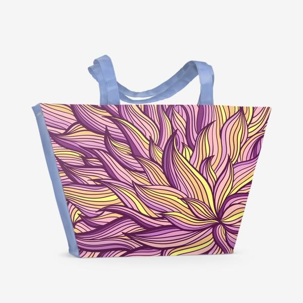 Пляжная сумка «Растительный узор»