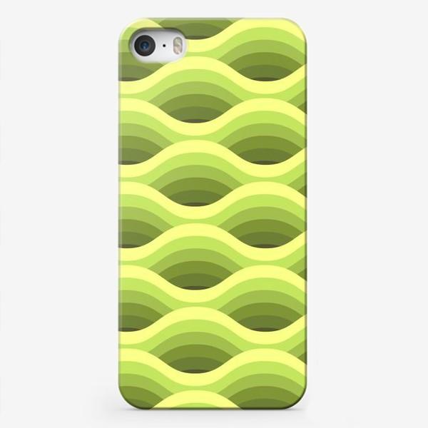 Чехол iPhone «Зеленые волны»