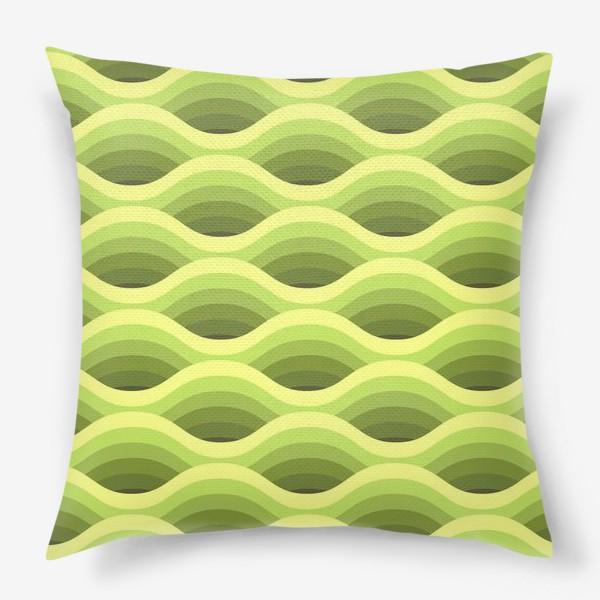 Подушка «Зеленые волны»