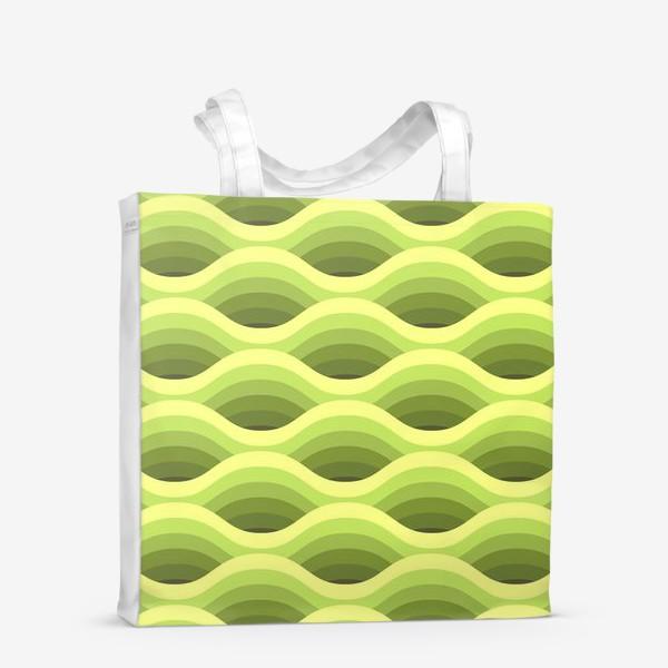 Сумка-шоппер «Зеленые волны»
