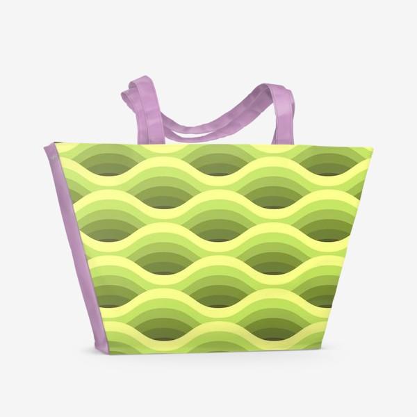 Пляжная сумка «Зеленые волны»