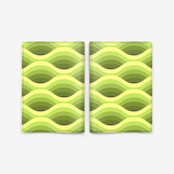 Обложка для паспорта «Зеленые волны»