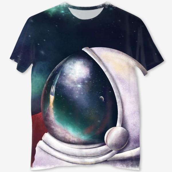 Футболка с полной запечаткой «космонавт»