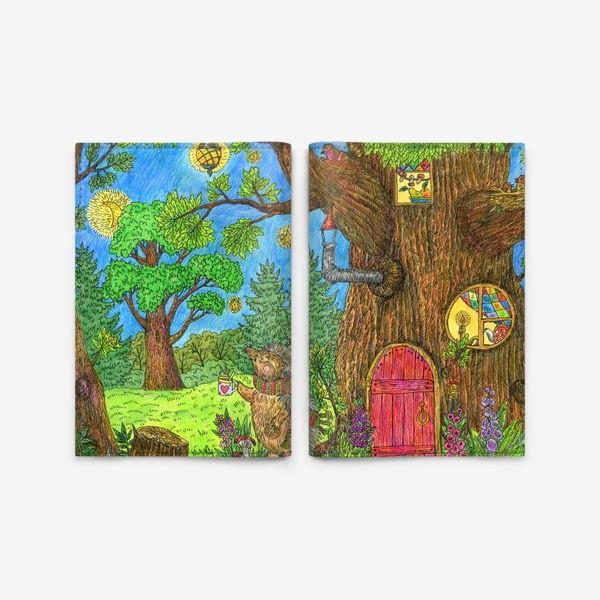 Обложка для паспорта «Уютная осень маленького ежика»