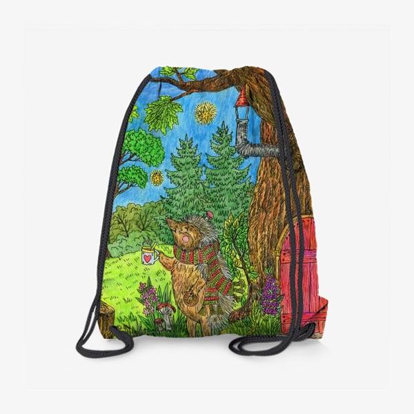 Рюкзак «Уютная осень маленького ежика»