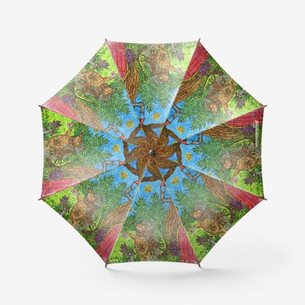 Зонт «Уютная осень маленького ежика»