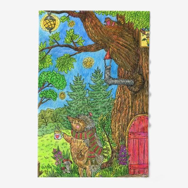 Полотенце «Уютная осень маленького ежика»