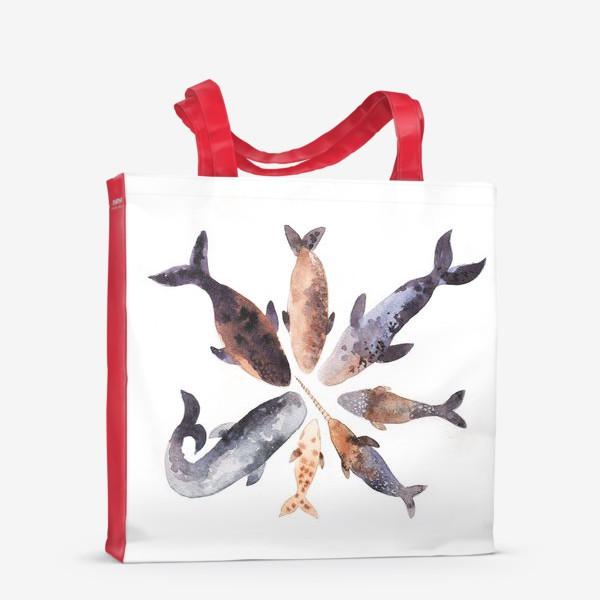 Сумка-шоппер «Киты»