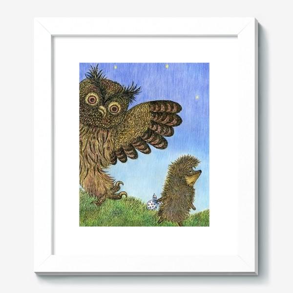 Картина «Ежик в тумане и сова»