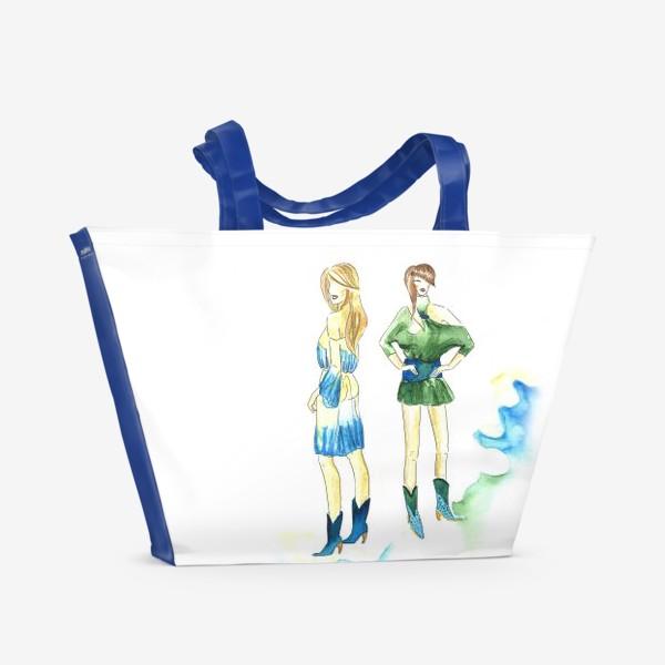 Пляжная сумка «fashion girls»