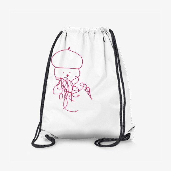 Рюкзак «Модная медуза в ретро одежде»