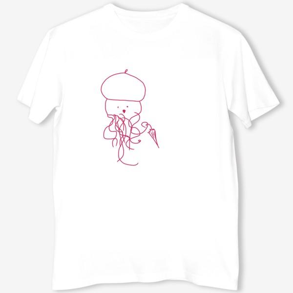 Футболка «Модная медуза в ретро одежде»