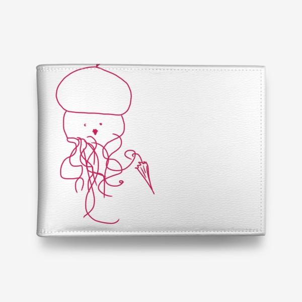 Кошелек «Модная медуза в ретро одежде»