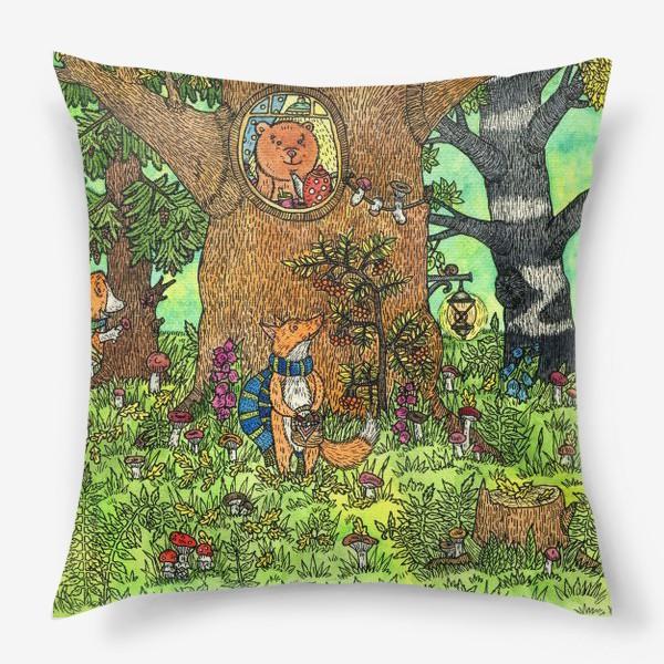 Подушка «Лисенок в осеннем лесу»