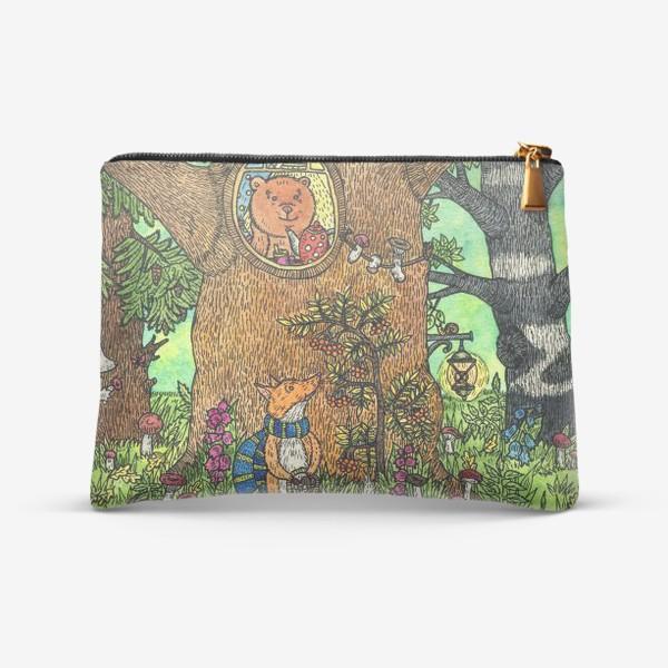 Косметичка «Лисенок в осеннем лесу»