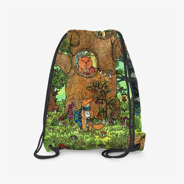 Рюкзак «Лисенок в осеннем лесу»