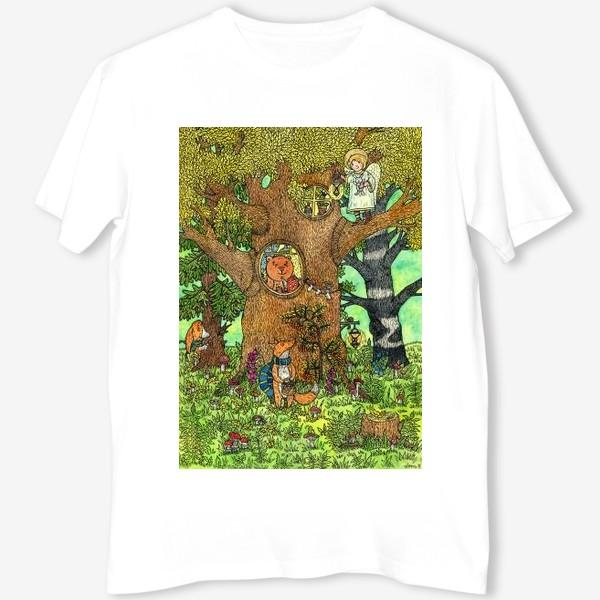 Футболка «Лисенок в осеннем лесу»