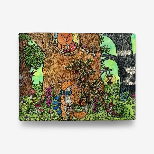 Кошелек «Лисенок в осеннем лесу»