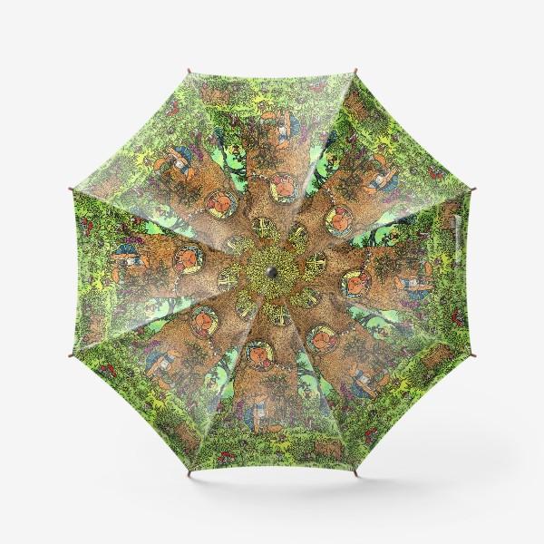 Зонт «Лисенок в осеннем лесу»