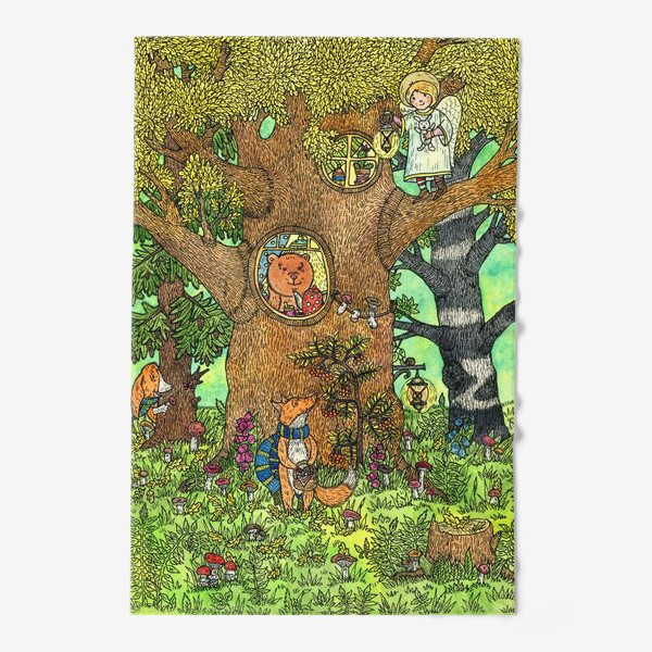 Полотенце «Лисенок в осеннем лесу»