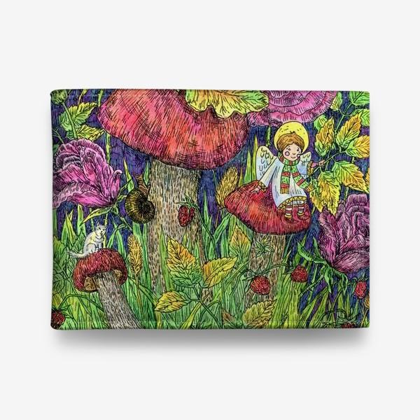 Кошелек «Розы и грибы. Лесная сказка»