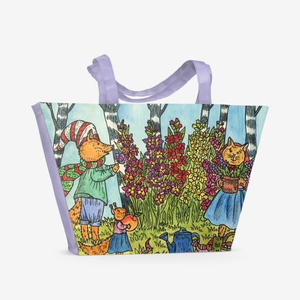 Пляжная сумка «С праздником!»